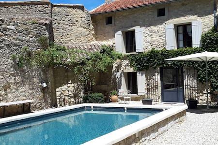 Maison ancienne provençale Piscine - Beaumont-du-Ventoux