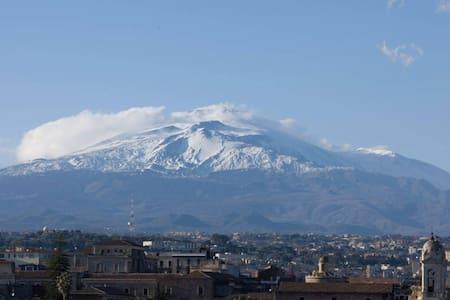Apt centro storico con vista Etna - Katania - Apartament
