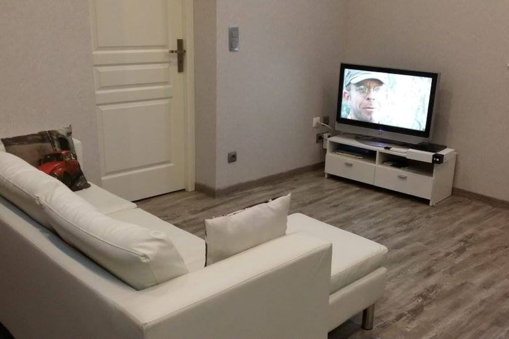 Espace détente avec tv, wifi