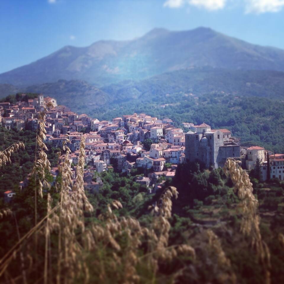 Foto panoramica di Rivello