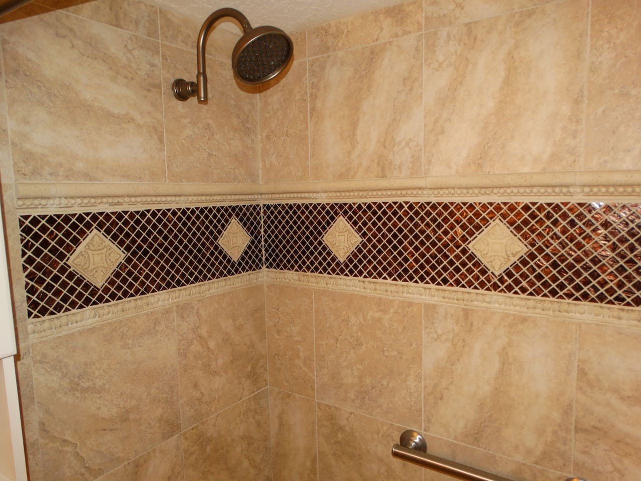 Look at the Tile Work and fixtures!