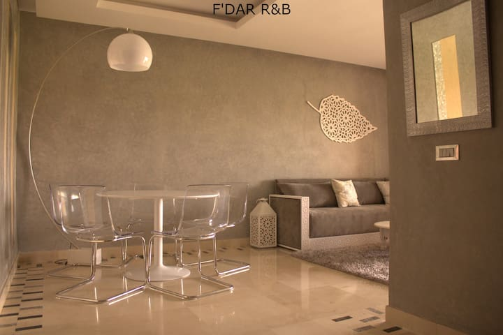 F'Dar R&B Apartment with Pool & Mountains View - Marrakech - Apartment