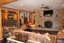 Indoor natural fireplace