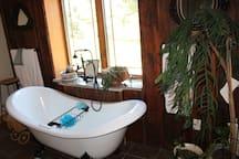 Bathroom 3: Full bath with claw tub (Jack and Jill)