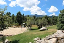 Sand volleyball court and play ground