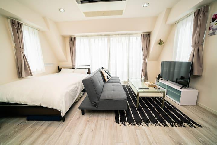 月租折扣中・新宿3丁目徒步2分好位置的质量好房#原宿涉谷银座直达#免费Wifi最大3人