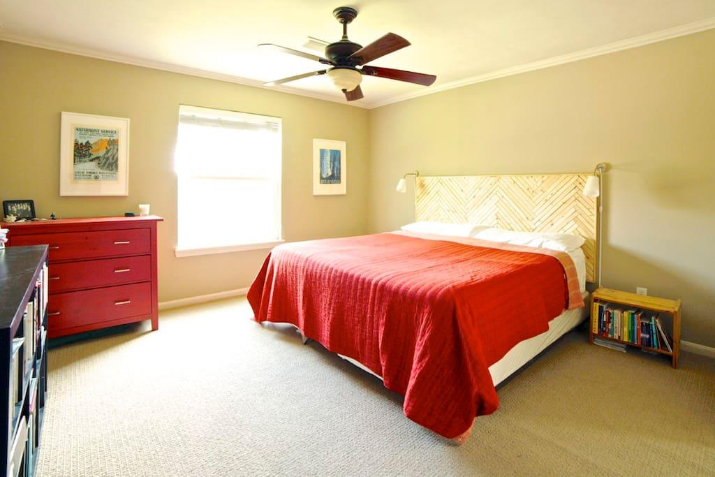 King bed, master bedroom