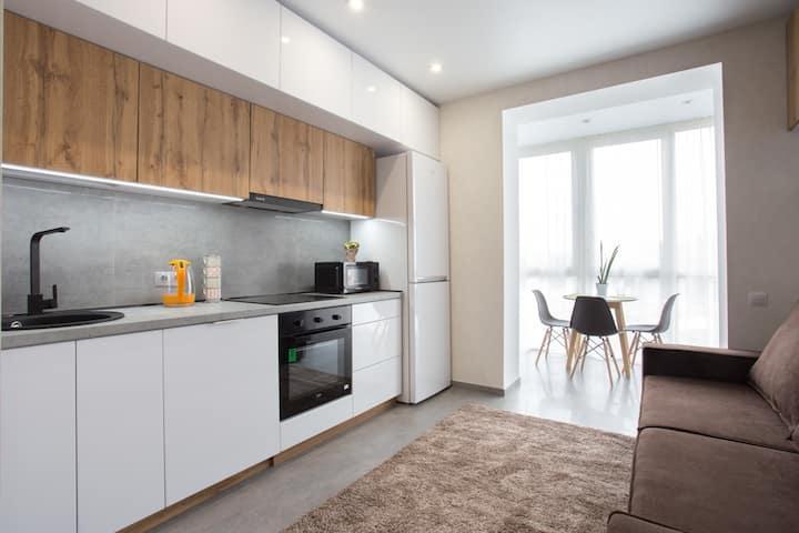 Двухкомнатные апартаменты возле парка Шевченко