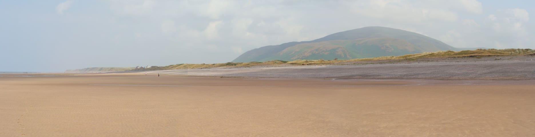 Beach at Layriggs Kirksanton overlooking Black Combe
