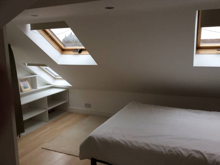 A converted loft double room