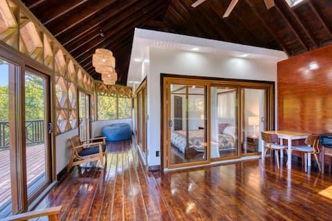 AC, kjøkken, trådløst nettverk, utsikt, kingsize-seng, dekk og terrasse