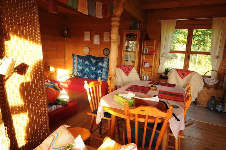 Pokój w drewnianym domu Kaszuby ❤ - Nowa Wieś Przywidzka - House