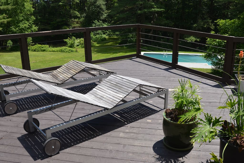 Pool and deck access in summer.