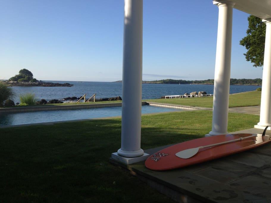 Backyard, pool, steps to the ocean,  beach