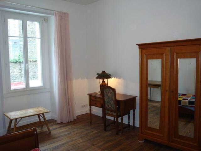 chambre, salle de bains kitchenette - Nantes - Appartement
