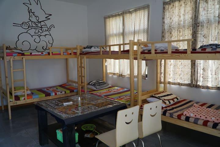 藏藏时光青年旅舍,8人混住床位房~那些年