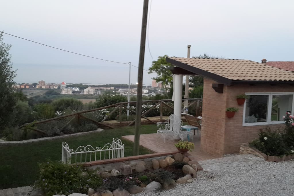 Second patio, 1000 meters of garden and sea view