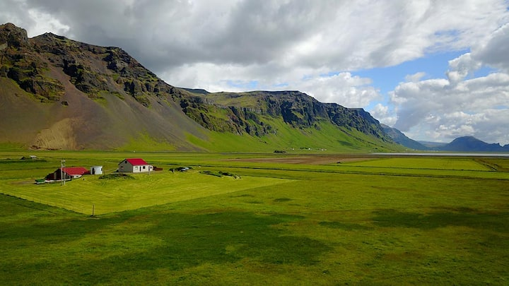 Old farmhouse by Eyjafjallajökull