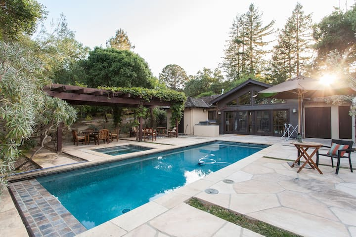 Sweeping View Private Spa Estate - Portola Valley - House