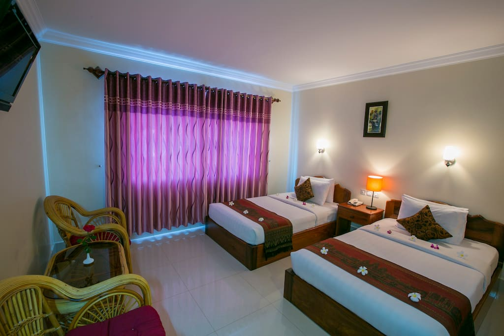 2 Beds for 2 person no Breakfast @ Gloria Angkor Hotel