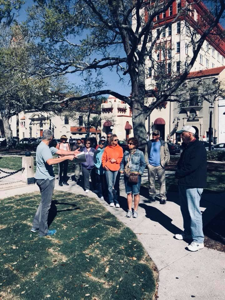 Ken leading a tour