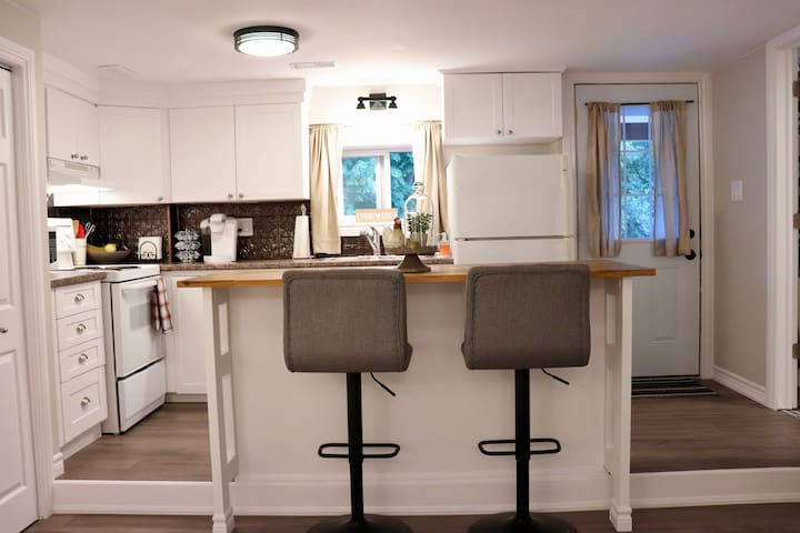 The kitchen is fully equipped and is perfect for your short or longterm stay.