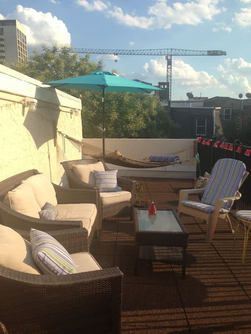 Beautiful new roof deck in the heart of the action.
