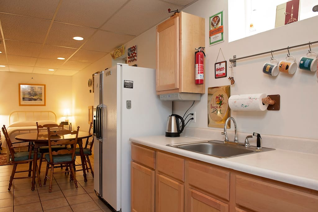 Kitchenette with seating