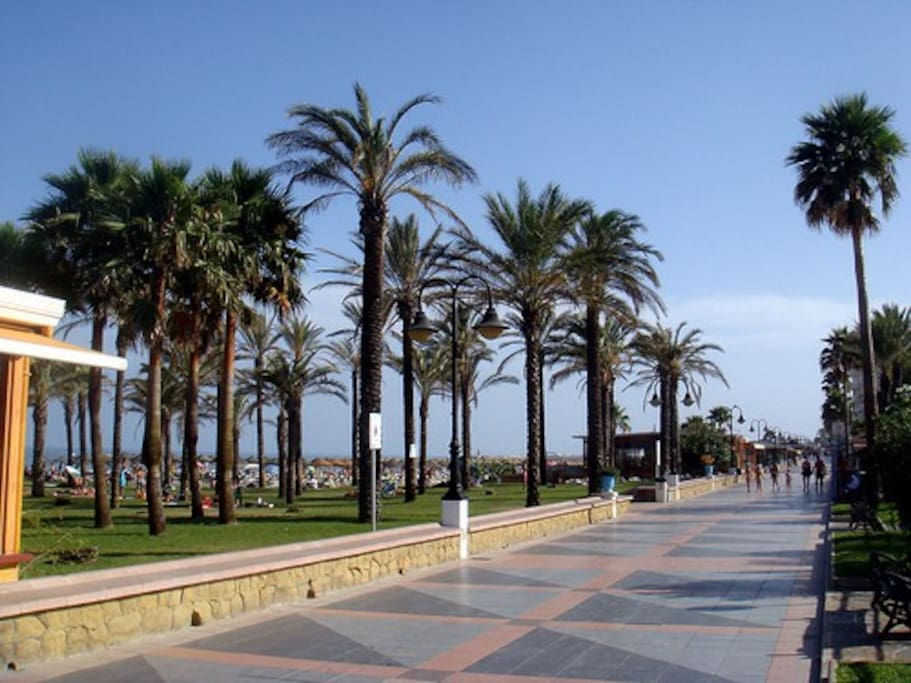 Beach boulevard Torremolinos