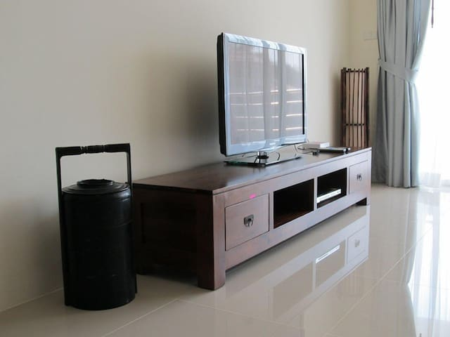 The apartment is furnished to a very high standard with large flat screen TV and dedicated Wifi