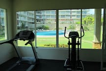 Fitness Centre overlooks the pool