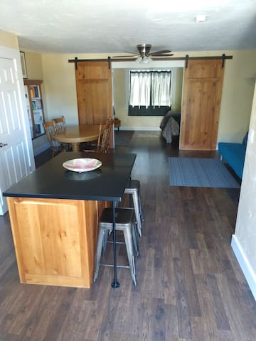 The Barn is a spacious apartment you will have all to yourself!