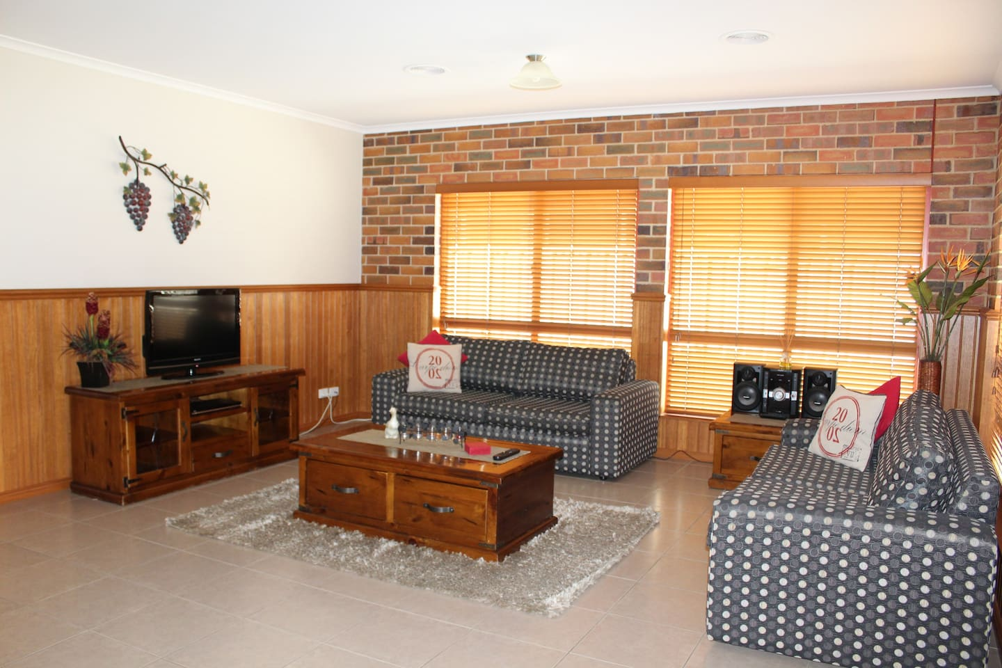 Living Area with 2 Double Sofa Beds
