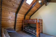 common space with bunk beds
