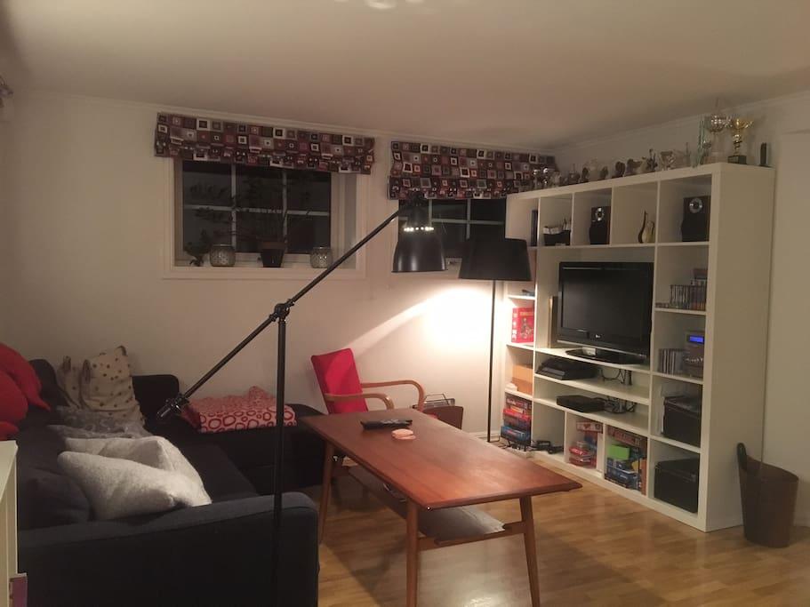 Stuen med TV