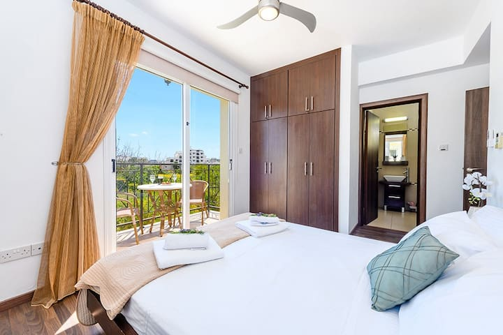 Master Bedroom with Aircondition and remote controlled ceiling fan