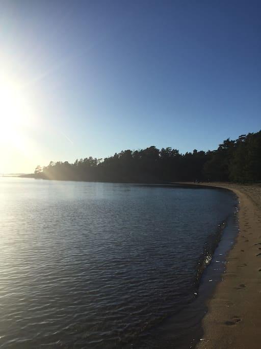 Beach in the Baltic sea.
