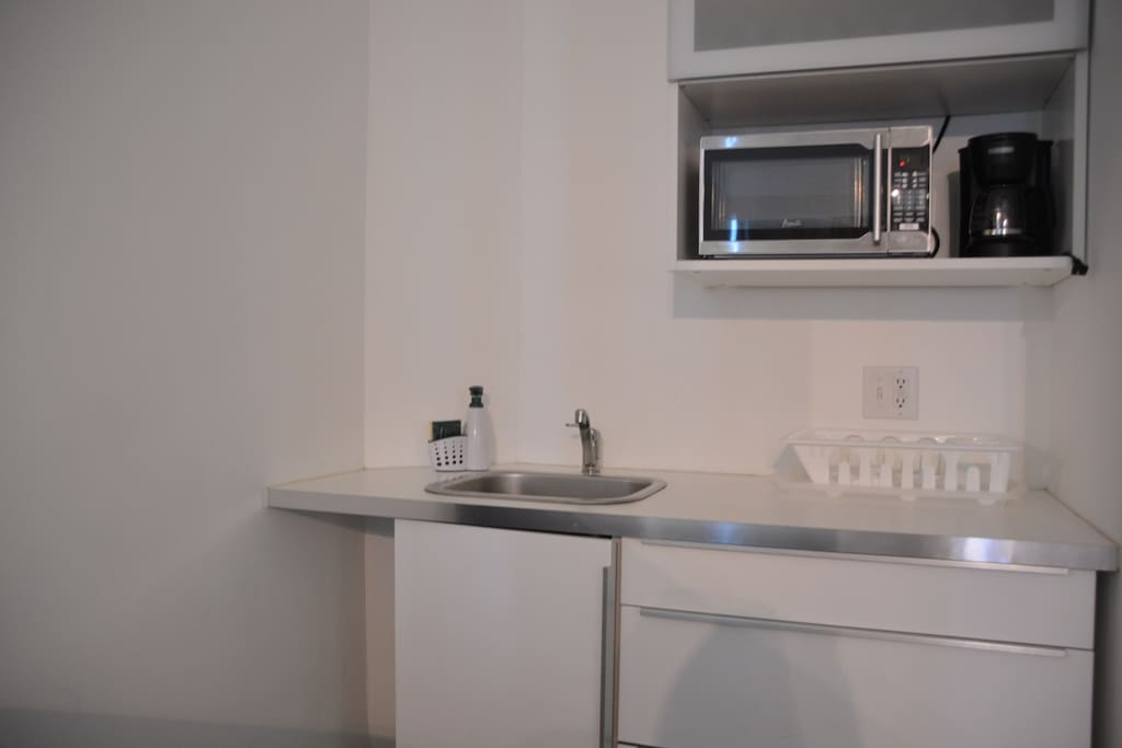 Make a simple meal in the equipped kitchenette.