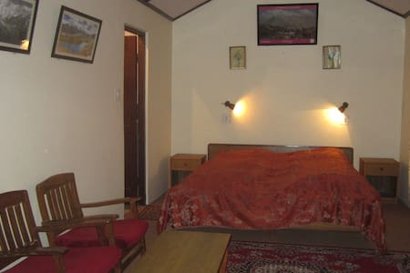 Our deluxe room with a private washroom