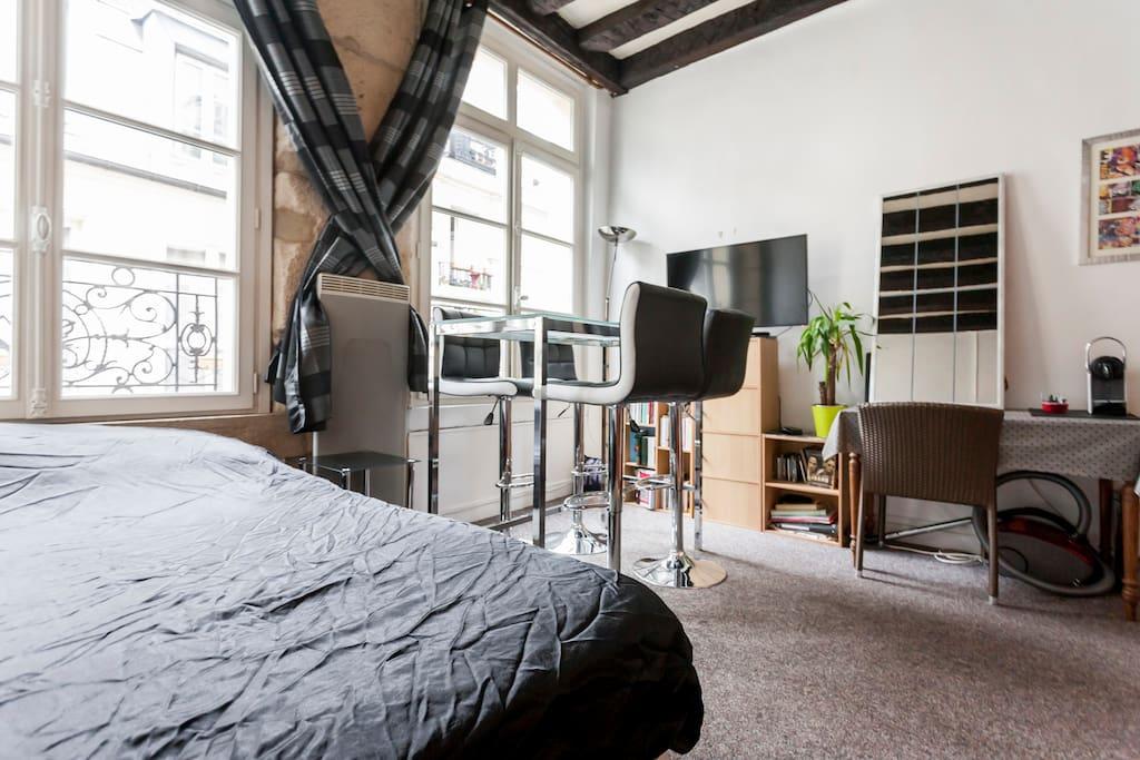 lastminut studio marais pompidou center appartements louer paris le de france france. Black Bedroom Furniture Sets. Home Design Ideas