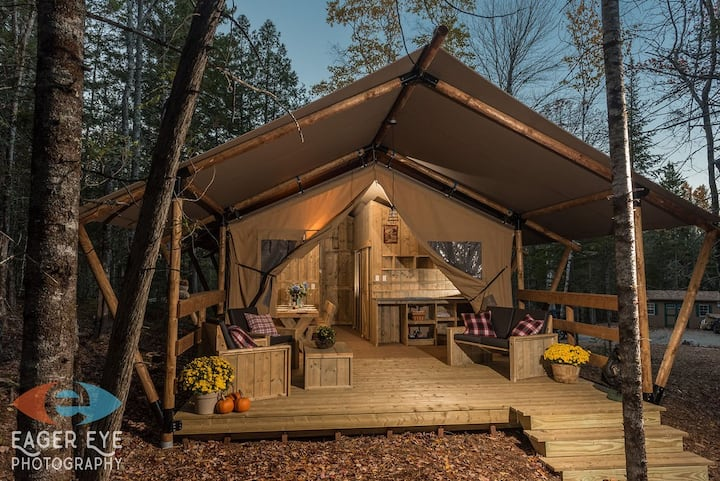 Go Glamping in Bar Harbor, Moose Tent