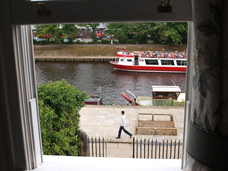 Riverside view from first floor sitting room.