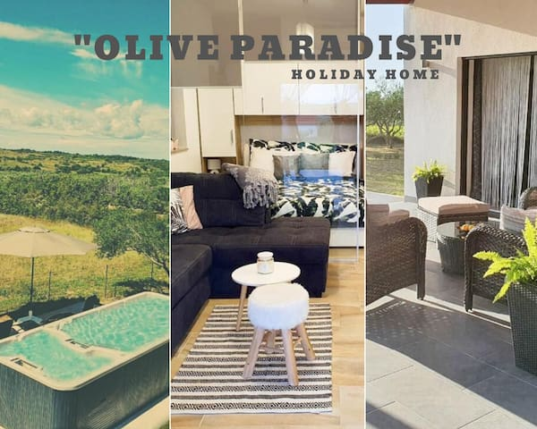 """Holiday Home """"Olive Paradise"""" with Pool & Jacuzzi"""