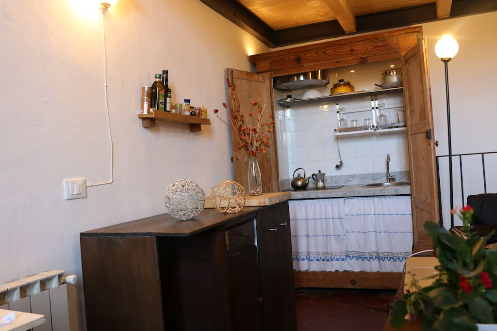 The kitchen, hidden behind a secret door.:)