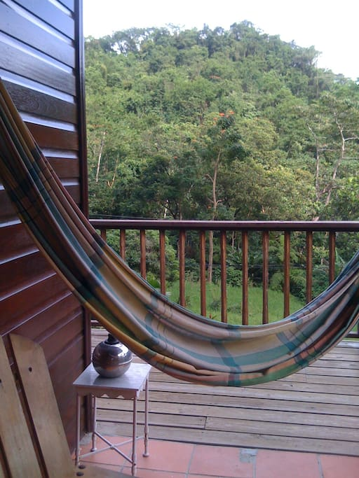 Hammock for cocktail hour overlooking the mountains