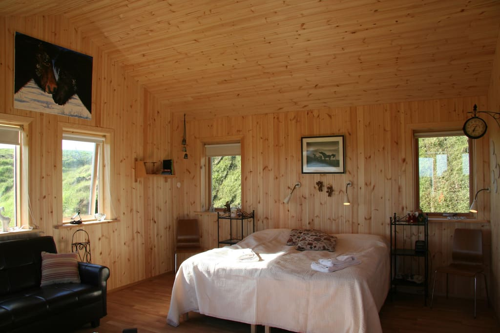 Each cottage is 35 sq meters, with kitchenette, bathroom with shower and sun patio.Each cottages is for 2 persons, but 2 extra beds can be added for extra charge.