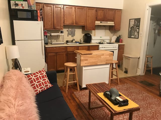 Cute 1st floor apartment of West Philly row home!
