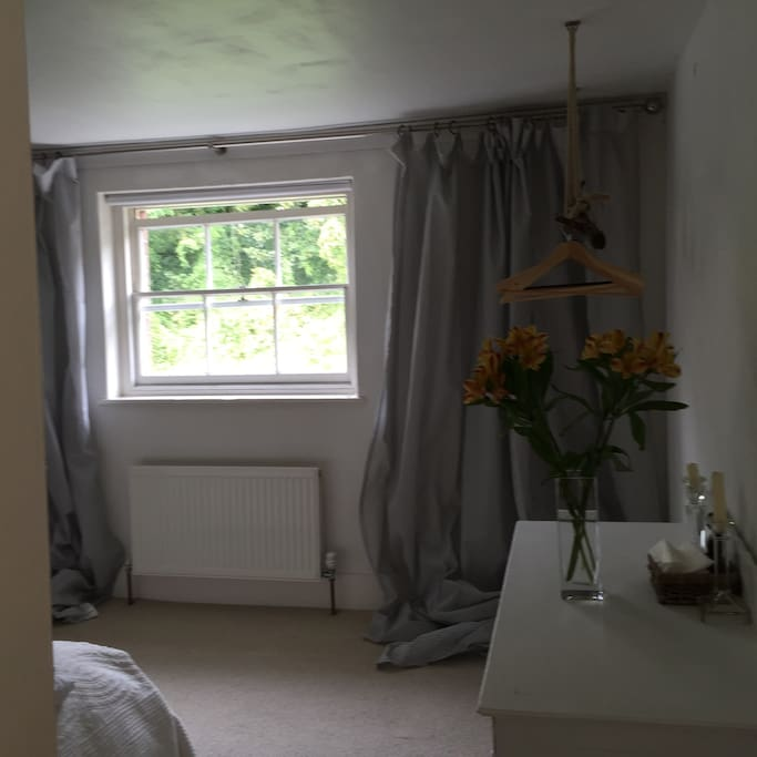 This is the back double bedroom over looking the nature reserve. Very quiet so a wonderful nights sleep.The photo is a bit dark but a wonderful light room.