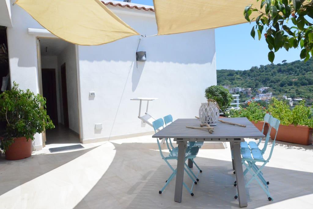 the terrace of the house of the sailor Ischia- La terrazza della casa del Marinaio -Ischia