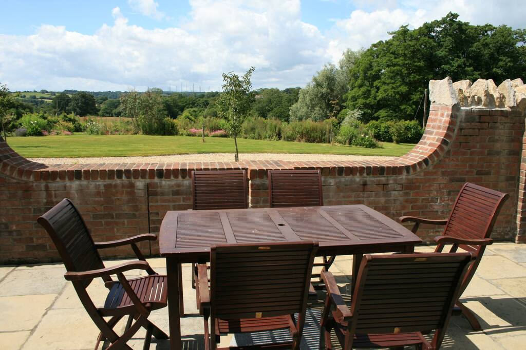 Fantastic views from the patio, great for al fresco dining.